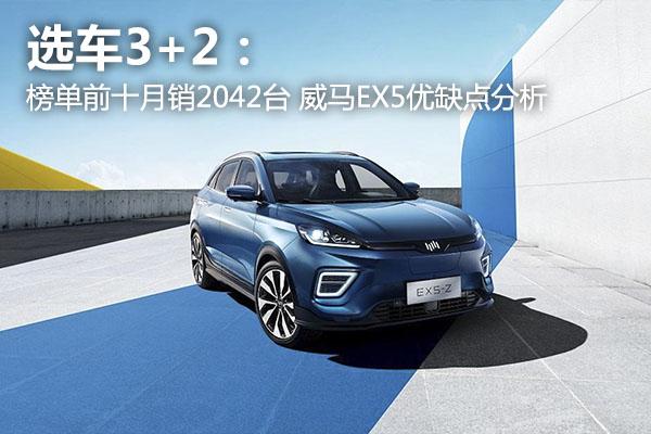 选车3+2:榜单前十月销2042台 威马EX5优缺点分析