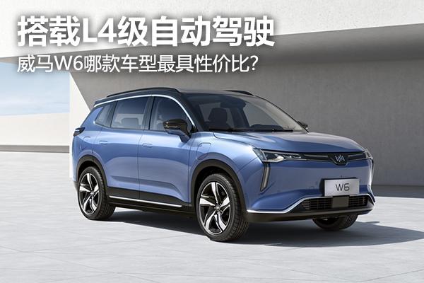 【购车手册】搭载L4级自动驾驶,威马W6哪款车型最具性价比?